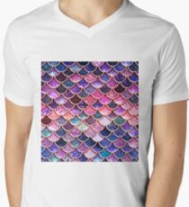 Pink Sparkle Faux Glitter Mermaid Scales T-Shirt
