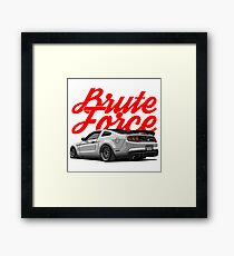 Brute Force. Mustang Framed Print