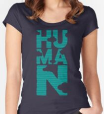 HUMAN (marrs green) Women's Fitted Scoop T-Shirt