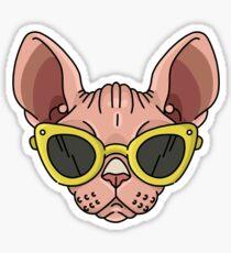 Summer Sunglasses Sphynx Sticker