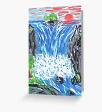 1601 - Waterfall In Canyon Greeting Card