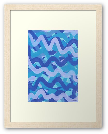 1603 - Blue Waves Dancing Happily von tigerthilo