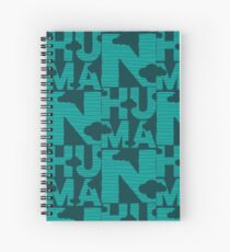 HUMAN (marrs green) Spiral Notebook