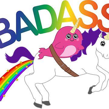 Badass Narwhal & Unicorn by tsampere