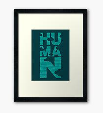 HUMAN (marrs green) Framed Print