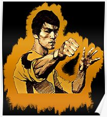 Bruce Lee Game of Death power pose Poster