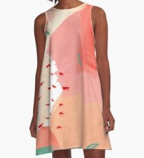 Peachy Abstraction No.2 A-Line Dress