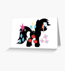 mlp mane six cutie marks Greeting Card
