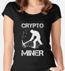 Crypto Miner - Funny Cryptocurrency Holder Merch Women's Fitted Scoop T-Shirt