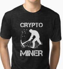 Crypto Miner - Funny Cryptocurrency Holder Merch Tri-blend T-Shirt