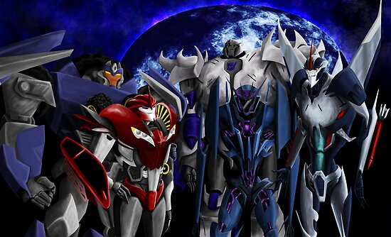 decepticons transformers prime posters by josie bedford redbubble