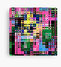 Rainbow Matrix Canvas Print
