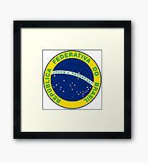 Brasil, insignia Framed Print