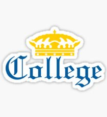 Corona Styled College Design Sticker