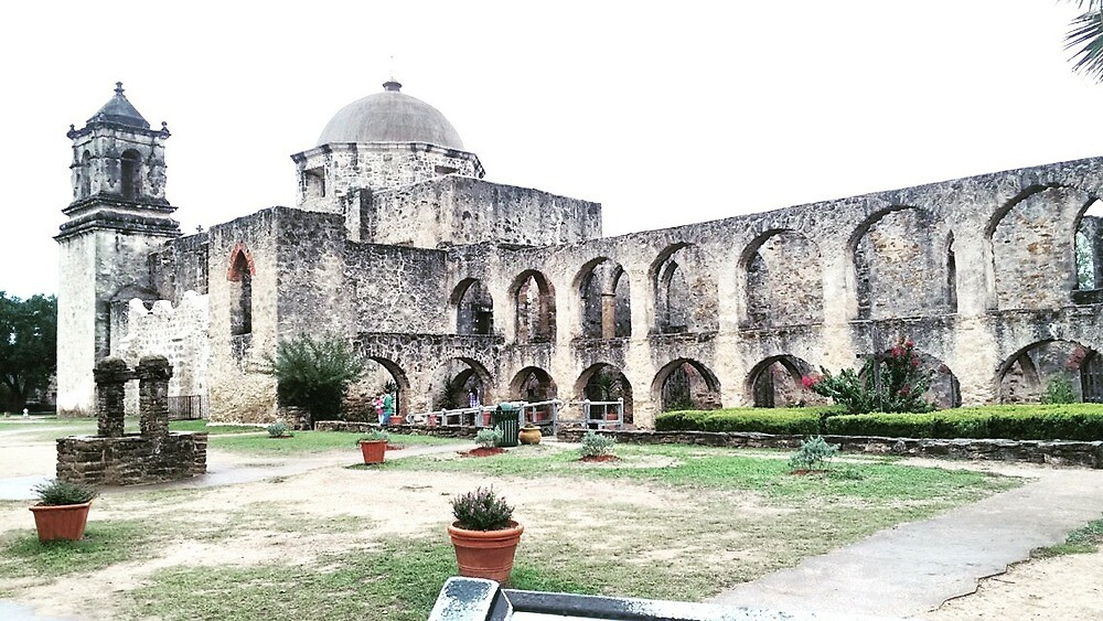 San Jose Mission, Texas - Contrast by cheryldrew