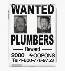 Wanted! Plumbers! iPad Case/Skin