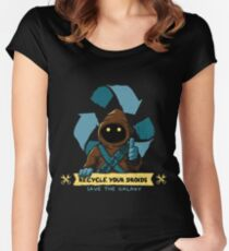 Recycle your droids - Jawa Women's Fitted Scoop T-Shirt