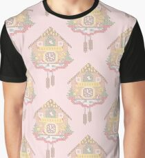 Cross Stitch Cuckoo Clock all over print pattern Graphic T-Shirt
