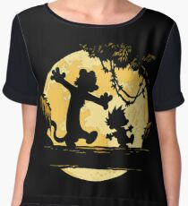 Calvin and Hobbes shirt Women's Chiffon Top