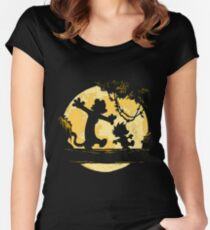 Calvin and Hobbes shirt Women's Fitted Scoop T-Shirt