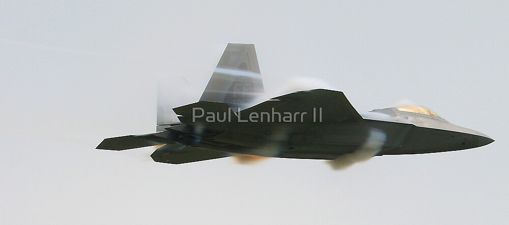 F-22 Raptor going supersonic 2 by Paul Lenharr II