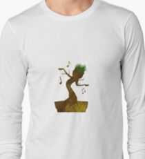 Tree Inspired Silhouette Long Sleeve T-Shirt