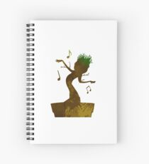 Tree Inspired Silhouette Spiral Notebook