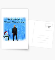 Walken in a Winter Wonderland | Funny Christmas Cards and Gifts with Christopher Postcards