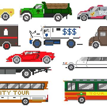 Street Vehicles 2 - The Kids' Picture Show - Pixel Art by KidsPictureShow