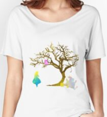 Wonderland Scene Inspired Silhouette Women's Relaxed Fit T-Shirt