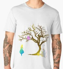 Wonderland Scene Inspired Silhouette Men's Premium T-Shirt
