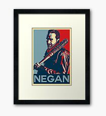 Negan Obey Hope Framed Print
