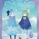 « Cirno and Daiyousei - Winter ver. » par Sedeto