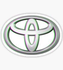 Toyota Logo Vaporwave Sticker
