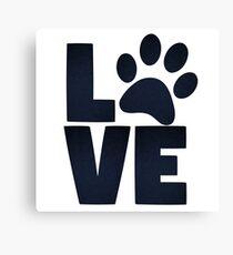 Love Pets Paw Cat Dog Cute Canvas Print