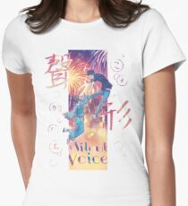 A Silent Voice - Koe no Katachi poster Women's Fitted T-Shirt