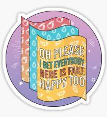 Fake Happy    Paramore Sticker