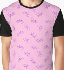 bicycle seamless doodle pattern Graphic T-Shirt