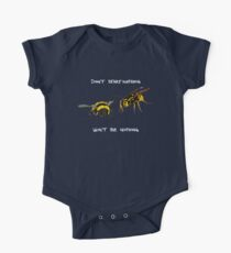 Don't start nothing - hymenoptera edition (for dark shirts) One Piece - Short Sleeve