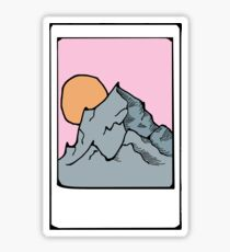 Instax Polaroid Picture Mountain Scene Sticker