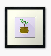 Green Plant Framed Print