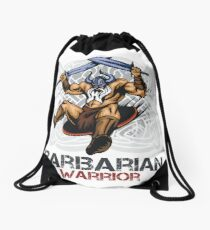 Barbarian Warrior Drawstring Bag