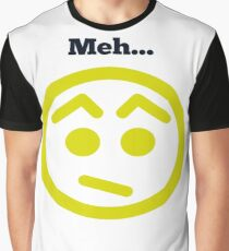 Meh...Smiley Face, Emoticon Graphic T-Shirt