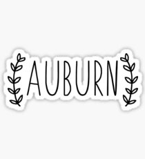 auburn leaves Sticker