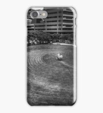 Mowing The Lawns In A Circle iPhone Case/Skin