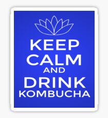 Keep Calm and Drink Kombucha Sticker