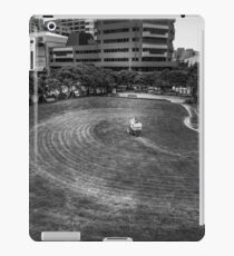 Mowing The Lawns In A Circle iPad Case/Skin