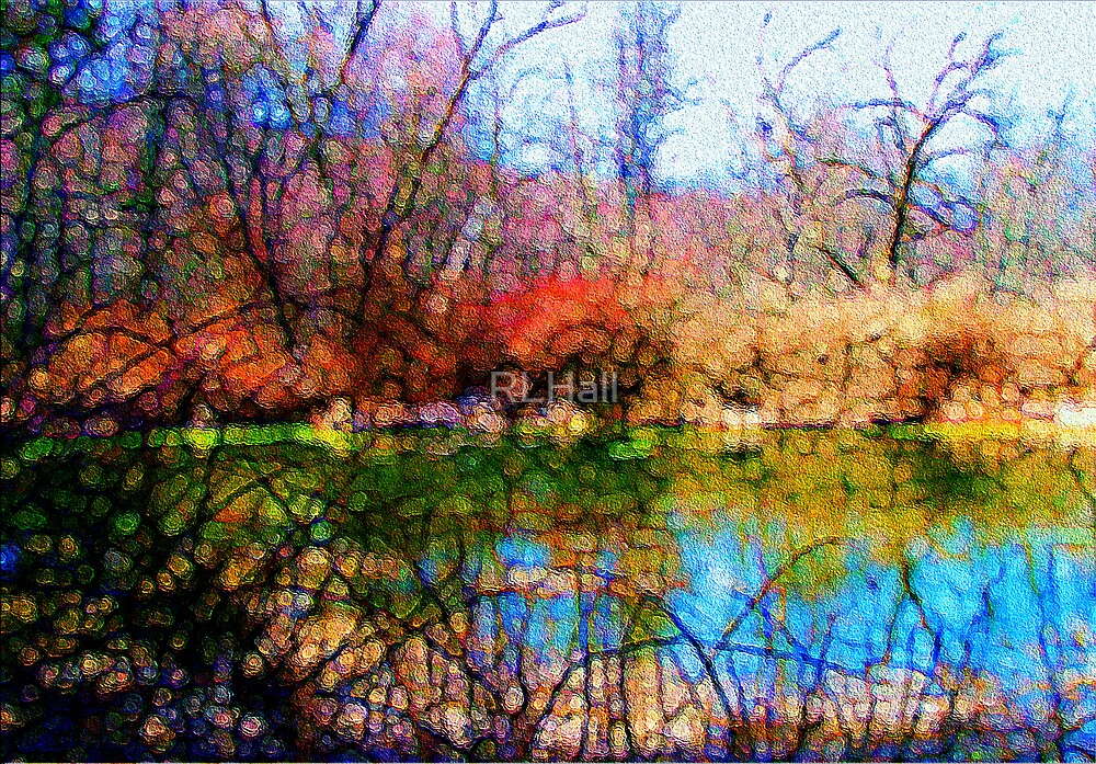 Stained Glass Pond by RLHall