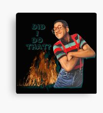 Steve Urkel- Did I do that? Canvas Print