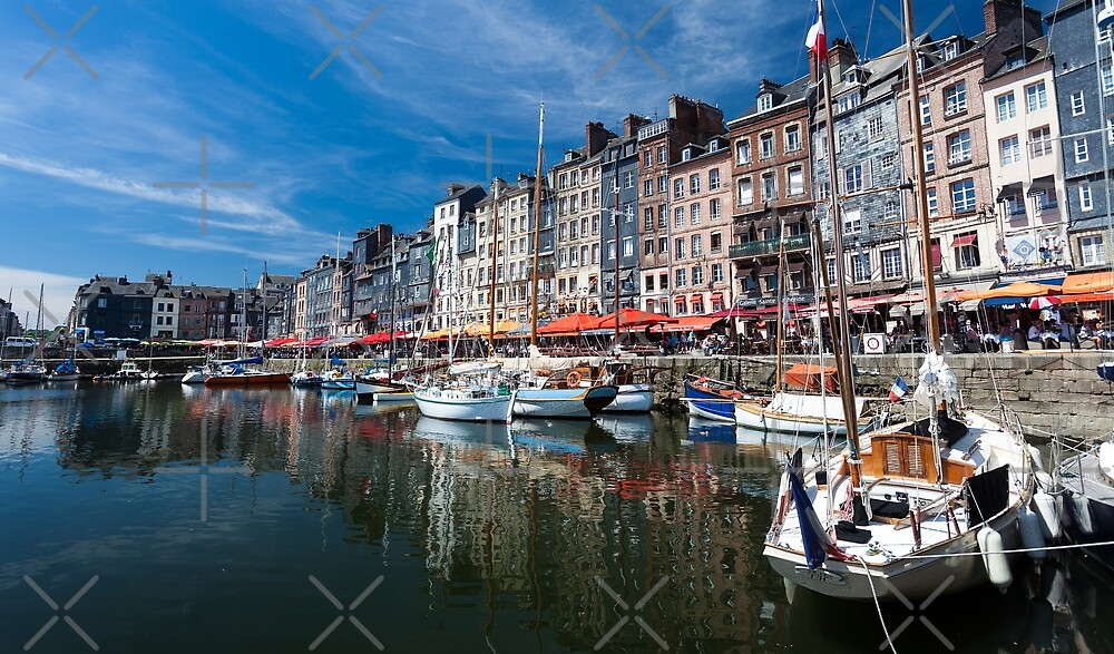 Honfleur town France by Leighton Collins